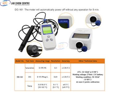 Portable Waterproof Dissolved Oxygen meter DO-161