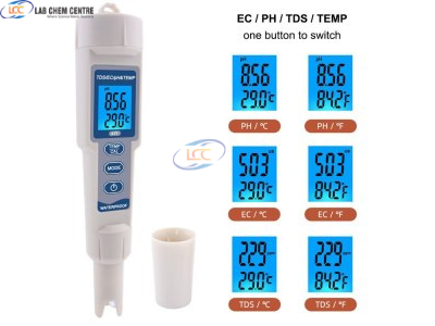 Water PH Tester 4 in 1 Function pH TDS EC Temp Digital Water Quality Tester Monitor Meter Test Pen